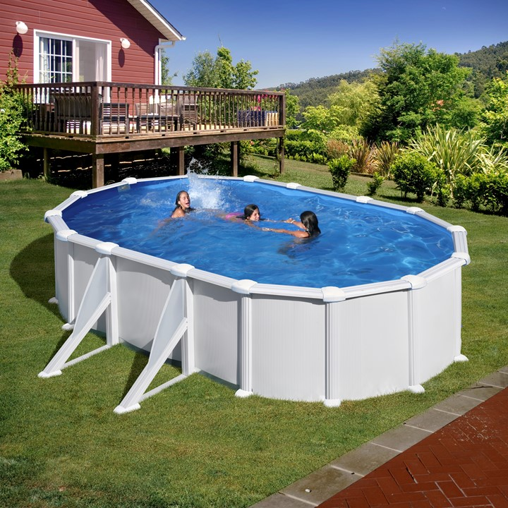 Dismountable swimming pools: Stainless steel oval swimming ...